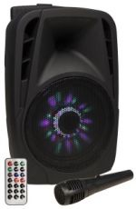 Hollywood MB-8 LED Mobile Beschallungsanlage, SD/USB, Bluetooth