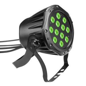 229860 Cameo Outdoor PAR TRI 12 IP 65 12 x 3 W TRI Colour LED RGB Outdoor PAR Scheinwerfer in schwarzem Gehäuse - Perspektive