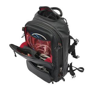 Magma RIOT DJ-Backpack black/red - Perspektive