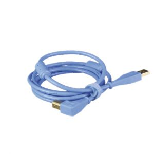 DJ Techtools USB Chroma Cable Angled Blu - Perspektive