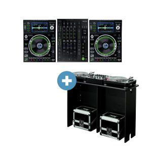 Denon SC5000 Prime + X1800 Prime + Glorious Mix Station black Bundle - Perspektive