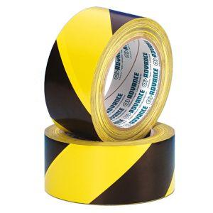 240228 Advance Tapes 5803 Warnband schwarz/gelb 50mm x 33m - Perspektive
