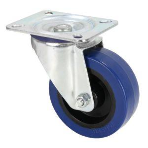 240254 Adam Hall Hardware 372151 Lenkrolle 100 mm mit blauem Rad - Perspektive