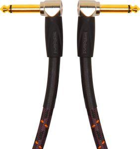 240637 Roland RIC-G3AA Gold Series Instrumentenkabel Patch/Pedalkabel - gewinkelte Klinkenstecker - 1m - Perspektive