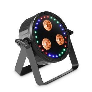 240886 Cameo FLAT STAR Flacher 2-in-1 PAR-Scheinwerfer mit RGBWA+UV LEDs und RGB-Ring - Perspektive