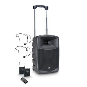 241103 LD Systems ROADBUDDY 10 BPH 2 Akkubetriebener Bluetooth-Lautsprecher mit Mixer, 2 Bodypacks und 2 Headsets - Perspektive