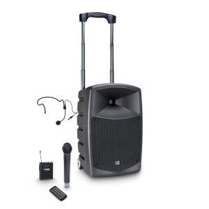 241106 LD Systems ROADBUDDY 10 HBH 2 Akkubetriebener Bluetooth-Lautsprecher mit Mixer, Funkmikrofon, Bodypack und Headset - Perspektive