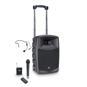 241107 LD Systems ROADBUDDY 10 HBH 2 B6 Akkubetriebener Bluetooth-Lautsprecher mit Mixer, Funkmikrofon, Bodypack und Headset - Perspektive