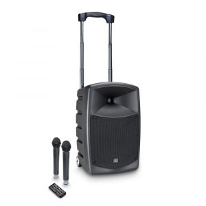 241108 LD Systems ROADBUDDY 10 HHD 2 B6 Akkubetriebener Bluetooth-Lautsprecher mit Mixer und 2 Funkmikrofonen - Perspektive