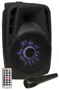 241369 Hollywood MB-8 LED Mobile Beschallungsanlage, SD/USB, Bluetooth - Perspektive