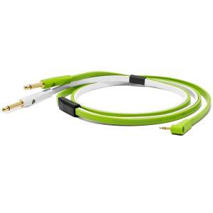 NEO-W by Oyaide d+ Kabel mit 6,3mm Klinke / 3,5mm  Stereo-Mini-Klinke, 2,5m