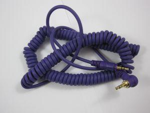241836 Reloop Kopfhörer Spiral-Kabel purple 3,5mm Klinke/ 3,5 mm Klinke gewinkelt stereo (1,15 - 4,00 m) - Perspektive