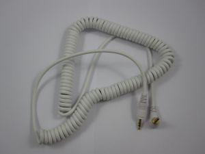 241837 Reloop Kopfhörer Spiral-Kabel white 3,5 mm Klinke/ 3,5 mm Klinke gewinkelt stereo (1,15 - 4,00 m) - Perspektive