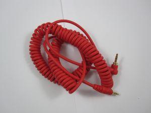 241838 Reloop Kopfhörer Spiral-Kabel red 3,5 mm Klinke/ 3,5 mm Klinke gewinkelt stereo (1,15 - 4,00 m) - Perspektive