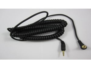 241840 Reloop Kopfhörer Spiral-Kabel black 3,5 mm Klinke/ 3,5 mm Klinke gewinkelt stereo (1,15 - 4,00 m) - Perspektive