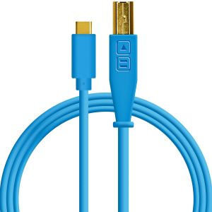 241968 DJ Techtools Chroma Cable USB-C blue - Top