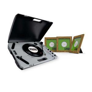 """242145 Reloop SPIN + Glorious Vinyl Frame Set 7"""" Rosewood - Perspektive"""