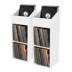 Glorious Record Rack 330 white 2er Bundle