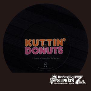 """242329 Dr.Suzuki 7"""" Kuttin Donuts Slipmat schwarz - Perspektive"""