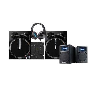 242468 IMG Stage Line MPX-1/BK + 2x Reloop RP-1000M + Elevator DJ-500 + Numark N-Wave 360 - Perspektive