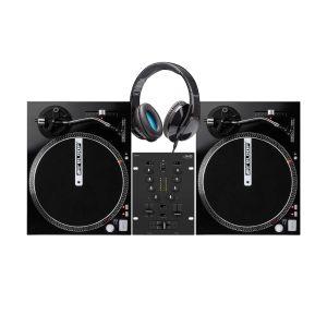 242469 IMG Stage Line MPX-1/BK + 2x Reloop RP-1000M + Elevator DJ-500 - Perspektive