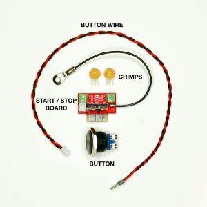 243047 Jesse Dean Digital Start Stop Button Kit Black - Perspektive