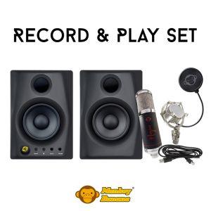243075 Monkey Banana Record & Play Set - Schwarz - Perspektive