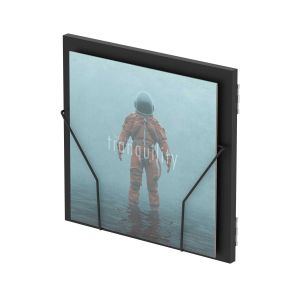 243154 Glorious Record Box Display Door Black - Perspektive