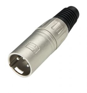243351 Adam Hall Connectors 7899 XLR Stecker male silber - Perspektive