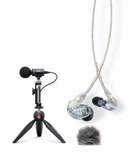 243374 Shure Portable Video Rig bestehend 1x MV88+ Video Kit, 1x AMV88-FUR, 1x SE215-CL-EFS - Perspektive