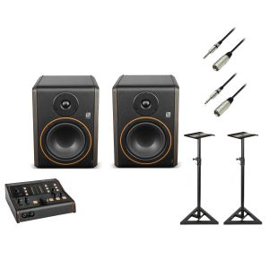 243538 Palmer Monitor Controller Bundle 2x STUDIMON 5 + MONICON XL + Kabel + 2x Monitor Stands - Perspektive