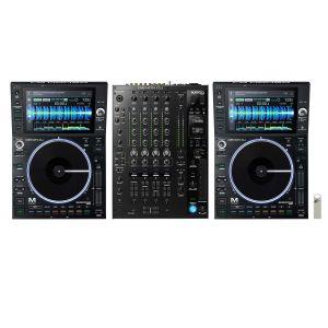 243644 Denon DJ Prime Bundle 2x SC6000M PRIME + X8150 PRIME +  + Elevator USB Stick 32 GB + 2x Link Kabel - Perspektive