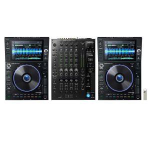 243645 Denon DJ Prime Bundle 2x SC6000 PRIME + X8150 PRIME +  + Elevator USB Stick 32 GB + 2x Link Kabel - Perspektive