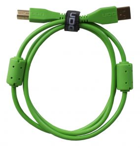 243800 UDG Ultimate Audio Cable USB 2.0 A-B Green Straight 1m - Perspektive
