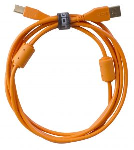 243802 UDG Ultimate Audio Cable USB 2.0 A-B Orange Straight 1m - Perspektive