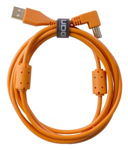 243818 UDG Ultimate Audio Cable USB 2.0 A-B Orange Angled 1m - Perspektive