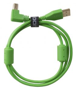 243823 UDG Ultimate Audio Cable USB 2.0 A-B Green Angled 2m - Perspektive