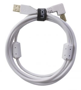 243827 UDG Ultimate Audio Cable USB 2.0 A-B White Angled 2m - Perspektive