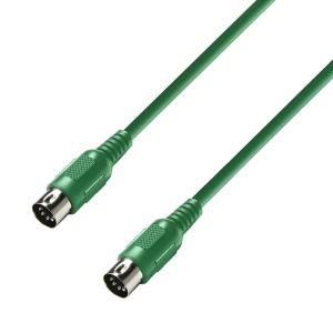 244327 Adam Hall Cables K3 MIDI 0075 GRN MIDI Kabel 0,75 m grün - Perspektive