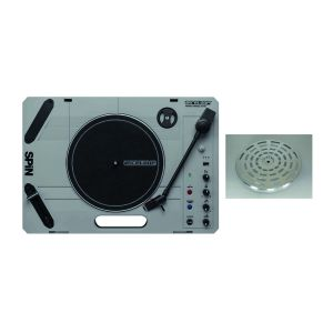 244458 Reloop SPIN + SolidCutz Aluminum Plattern Silver - Perspektive