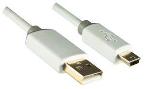 244486 Dinic USB 2.0 auf Mini-USB Kabel 0,5m weiß Blister - Perspektive