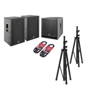 244496 HK Audio PR:O D2 Set 2x PR:O 112 FD2 + 1x PR:O 118 Sub D2 + Kabel + Stative - Perspektive