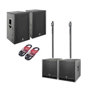 244497 HK Audio PR:O D2 Set 2x PR:O 112 FD2 + 2x PR:O 118 Sub D2 + Kabel + Stative - Perspektive