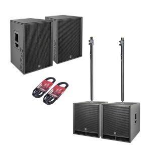 244498 HK Audio PR:O D2 Set 2x PR:O 115 FD2 + 2x PR:O 118 Sub D2 + Kabel + Stative - Perspektive