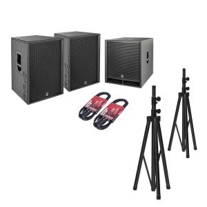 244499 HK Audio PR:O D2 Set 2x PR:O 115 FD2 + 1x PR:O 118 Sub D2 + Kabel + Stative - Perspektive