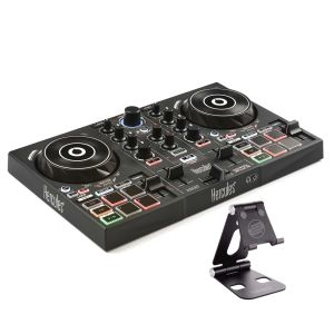 244506 Hercules DJ Control Inpulse 200 + Reloop Smart Display Stand - Perspektive