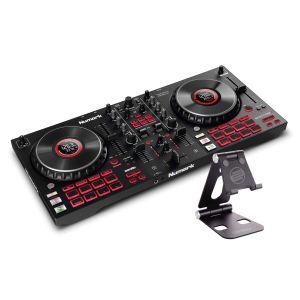 244508 Numark Mixtrack Platinum FX + Reloop Smart Display Stand - Perspektive