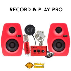 244518 Monkey Banana Record & Play Set PRO red - Perspektive