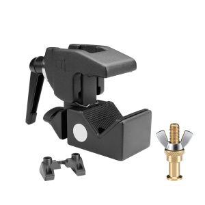 244613 Adam Hall Accessories SUPER CLAMP MK2 SET 1 Universal Haken schwarz mit Klemmhebel MK2 + SS018 Bolzen - Perspektive