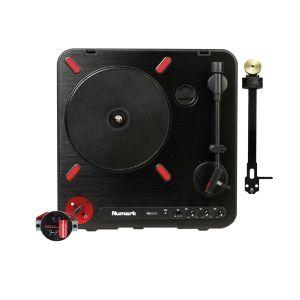 244701 Numark PT01 Scratch + Jesse Dean Contactless Fader Black + Jesse Dean PCB Portable Tone Arm Black - Perspektive